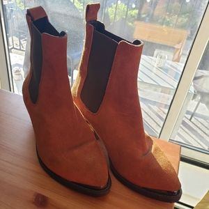 Brown suede ankle boots /booties